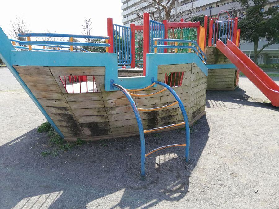 南六郷公園 船の遊具