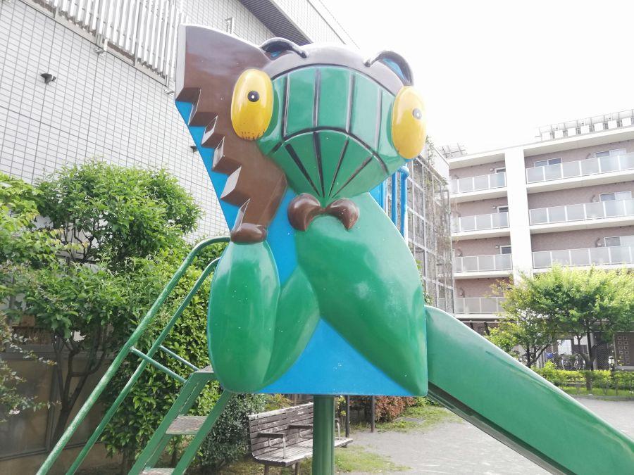 大田区 西三うぐいす児童公園 すべり台
