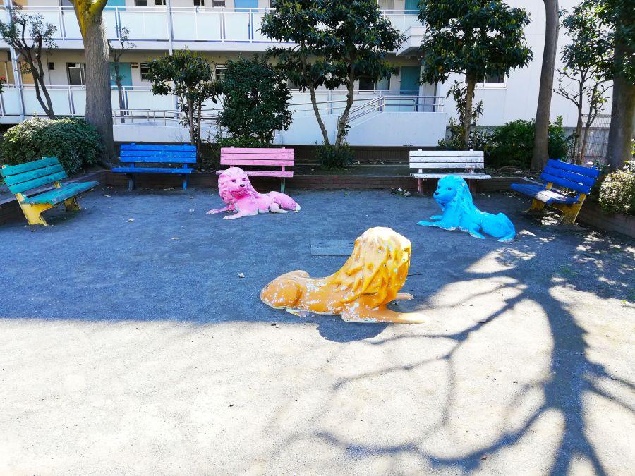 本羽田第二児童公園 ライオン