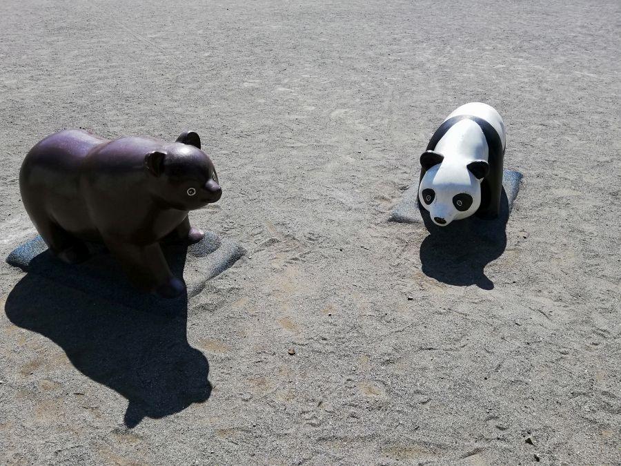 本羽田本町公園 パンダとクマ