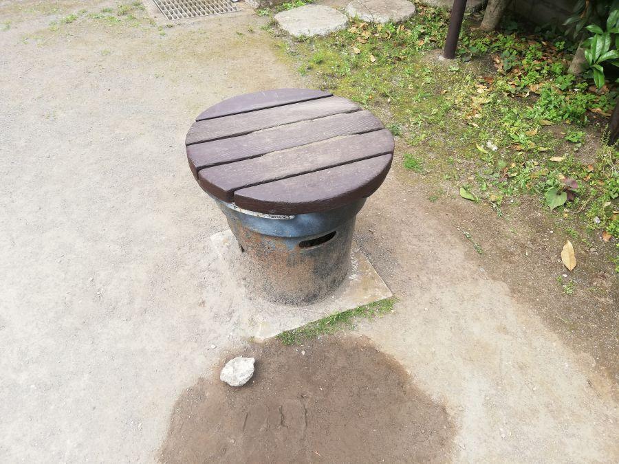 大田区 下袋児童公園 かまどベンチ