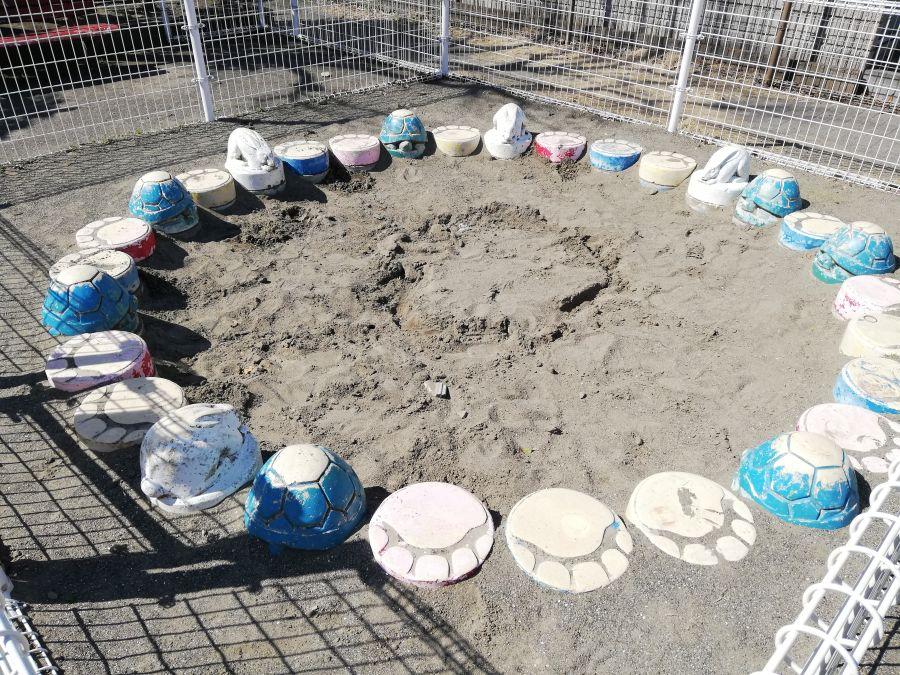 本羽田第二児童公園 うさぎと亀