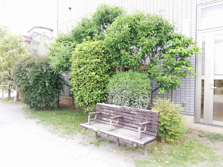 大田区 西三うぐいす児童公園 ベンチ