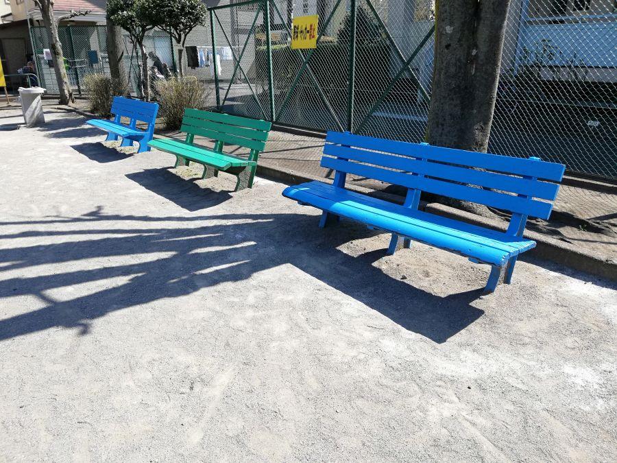 本羽田本町公園 ベンチ
