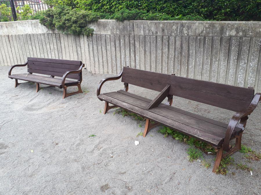 大田区 東糀谷一丁目呑川公園 ベンチ