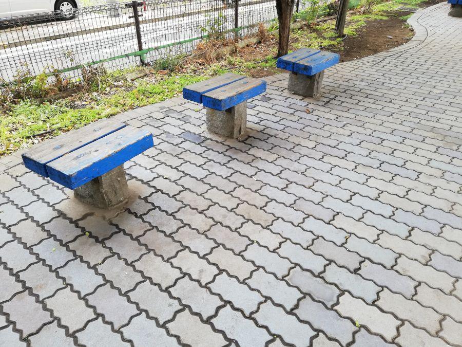 大田区 羽田西前公園 ベンチ