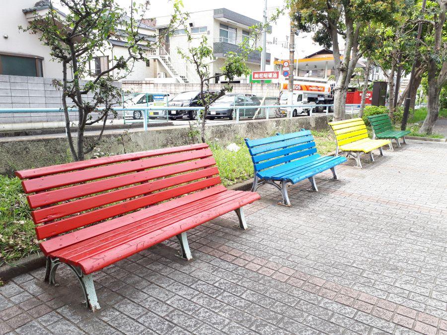 大田区 北前堀緑地 ベンチ